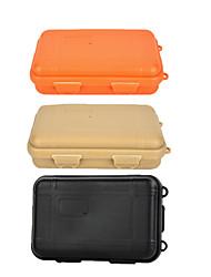 survie en plein air anti-choc cas stockage scellé contenant résistant à l'eau - noir / orange / kaki (grand)
