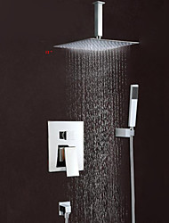 "Wall Mounted Rain Shower Faucet Set 12""Square Shower Head Bathroom Mixer Taps"