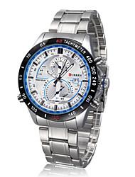 Men watch Quartz Waterproof Sports Watch Calendar Genuine Stainless Steel Wristwatch (Assorted Color) Wrist Watch Cool Watch Unique Watch