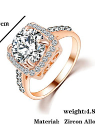 Band Rings Zircon Cubic Zirconia Alloy Fashion Silver Golden Jewelry Wedding Party 1pc