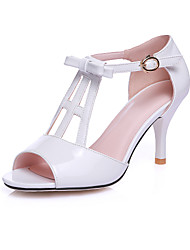 Women's Shoes Stiletto Heel Peep Toe Sandals Party & Evening / Dress Pink / Red / White