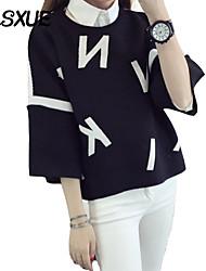 Damen Pullover  -  Leger / Niedlich Acryl Medium ¾-Arm