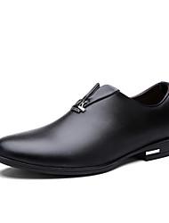 Men's Shoes Casual Leather Slip-on Black / Navy / Burgundy