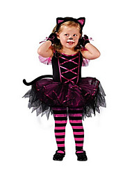 Vestido Chica de - Verano / Primavera / Otoño - Poliéster - Negro