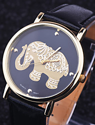 Resuli New Arrival Elephant Women Printing Pattern Weaved Leather Quartz Dial Watches Cool Watches Unique Watches