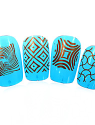 3pcs nieuwe 12x6cm image diy stamping platen nail art templates stencils voor polish xy-L04 (01-32) willekeurige aflevering