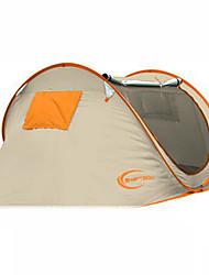 KEUMER® 2 Pessoas Tenda Tenda Automática Um Quarto Barraca de acampamento 1500-2000 mm Anti-Insectos Ultra Leve (UL)Verde Dourado Laranja