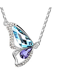 Austria Crystal Butterfly Pendant Necklace,Fine Jewelry