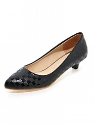 Women's Shoes Leatherette Low Heel Heels Heels Outdoor / Office & Career / Casual Black / Pink / Beige
