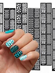 Панк-Стразы для ногтей-Пальцы рук-4 x 18-6pcs-ПВХ