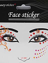 Хэллоуин 1шт моды макияж лицо искусства водонепроницаемой стикер татуировки трюк удовольствие