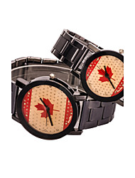 L.WEST Couple's The National Flag Diamonds Quartz Watch Cool Watches Unique Watches