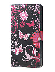 Flower and Butterfly  Magnetic PU Leather wallet Flip Stand Case cover for DOOGEE X5