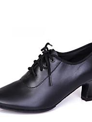 Zapatos de baile(Negro) -Latino / Moderno-No Personalizables-Tacón Cuadrado