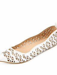 Women's Shoes  Flat Heel Pointed Toe Flats Outdoor / Dress / Casual Blue / Pink / White