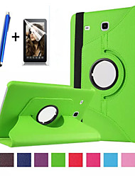 "New 360 Rotating PU Leather Stand Case Cover For Samsung Galaxy Tab E 9.6"" SM-T560 Tablet+Stylus+Film"