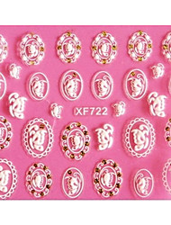 3D Emboss Butterfly Badge Nail Stickers