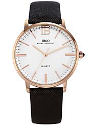 vestido de reloj de los hombres ver deportes ocasionales japón reloj de cuero genuino resistente al agua reloj de cuarzo 2035 30m