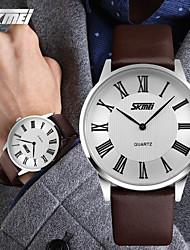 SKMEI® Men's Japan PC Leather Band Quartz Analog Calendar 30M Water Resistant Dress Watch Cool Watch Unique Watch Fashion Watch