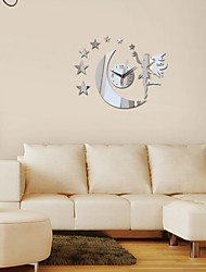 Time-Limited Led Acrylic Wall Clock Diy Fashion Mirror Fairy Moon Stickers Modern Home Decor Watch