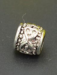 diy de contas pulseira colar brincos de prata jóias acessórios coração verde ao coração grande kong Zhu hac0023
