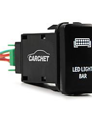12v pousser feux arrière à LED commutateur blanc pour toyota prado 150 landcruiser 200 rav4