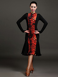 High-quality Viscose with Ruched Latin Dance Dresses for Women's Performance(More Colors)