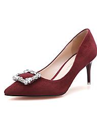 Zapatos de mujer - Tacón Stiletto - Tacones / Puntiagudos / Punta Cerrada - Tacones - Vestido - Ante - Negro / Rojo / Caqui / Azul Real