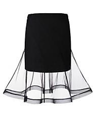 Damen Röcke  -  Leger / Street Schick Knielang Polyester Mikro-elastisch