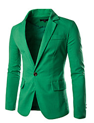 Men's Long Sleeve Long Blazer , Cotton Pure