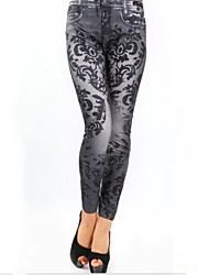 Damen Jeans Legging,Baumwoll-Mischungen Polyester Medium