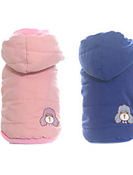 Dog Coat Blue / Pink Winter Cartoon Keep Warm / Fashion