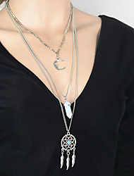 Necklace Pendant Necklaces Jewelry Party / Daily / Casual Crystal / Alloy Silver 1pc Gift