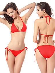 2016 Bikini Women Sexy Halter Swimwear Patchwork Bikini Set Large Cup Swimsuit Low Waist Bathing Suit Monokini