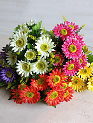 12 Heads High Quality Daisies Flowers Silk Flower Artificial Flowers for Wedding Home Decoration 1pc/set