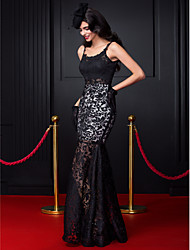 TS Couture® Formal Evening Dress Fit & Flare Spaghetti Straps Floor-length Lace with Lace