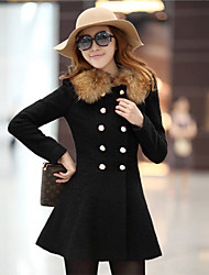 Women fashion double-breasted coat of cultivate one's morality Cloth of wool tit is coat  COAT9
