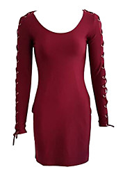 Women's Summer New Fashion Sexy High Waist Long Sleeve Dress