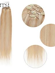 "neitsi® 20 ""6pcs establecen 100% de clip remy real en extensiones de cabello humano ombre virgen recta p27-613 pelo"