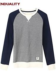 Trenduality® Hombre Escote Redondo Manga Larga Camiseta Azul marino / Gris Oscuro / Gris Claro - 47044