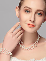 Jewelry Set Women's Anniversary / Wedding / Engagement / Birthday / Gift / Party / Daily / Special Occasion Jewelry Sets Imitation Pearl