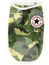 Dog Vest Camouflage Color Summer / Spring/Fall Camouflage Fashion-Pething®, Dog Clothes / Dog Clothing