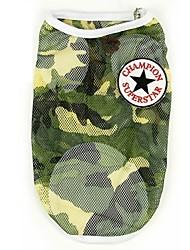 Dog Vest Camouflage Color Summer / Spring/Fall Camouflage Fashion-Pething®, Dog Clothes / Dog Clothing