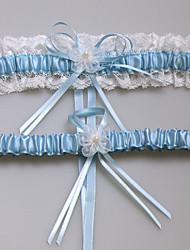 Garter Satin 1 piece/ Lace Flower / Lace Blue / Pink / Fuchsia / Beige