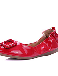 Women's Shoes Leather Flat Heel Comfort Flats Office & Career / Work & Duty / Athletic / Casual Black / Red / White