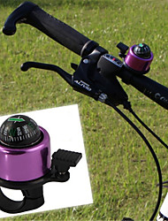 Cycling Bicycle Handlebar Metal Ring With Compass Bike Bell Horn Sound Alarm