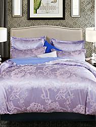 4-Piece Jacquard Polyester Duvet Cover Set
