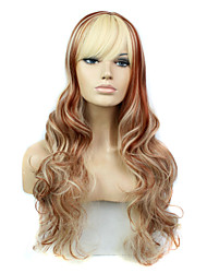 New fashion hairstyle Long Wavy Hair Wig synthetic full wigs cheap Heat Resistant ms female Wig