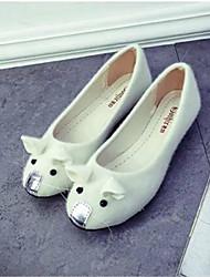 Women's Shoes Velvet Flat Heel Ballerina Flats Outdoor / Office & Career / Dress / Casual Black / Purple / White