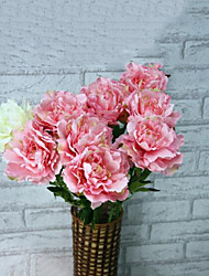 High Quality 1 Pieces Peonies Flowers Silk Flower Artificial Flowers for Wedding home Decoration Flower Kit (Pink)